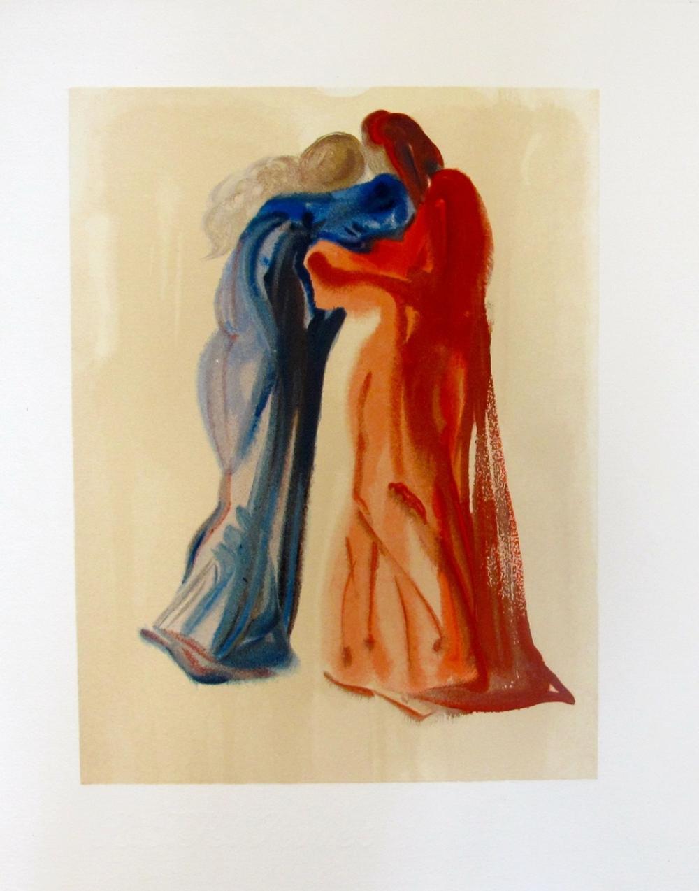 Salvador Dali 1960 Divine Comedy Purgatory 29 Color Woodcut Wood Block Engraving