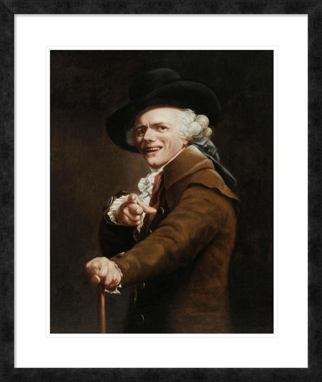 JOSEPH DUCREUX - PORTRAIT OF THE ARTIST AS A MOCKER