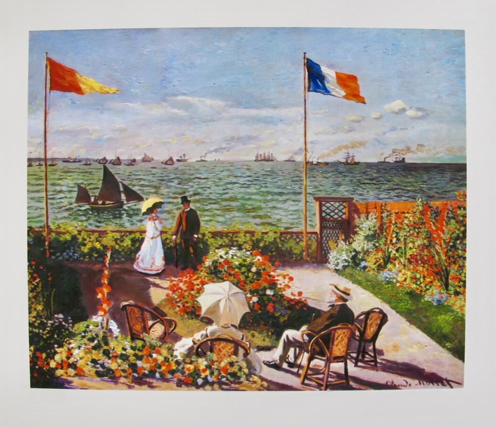 Claude Monet Terrace By The Seaside