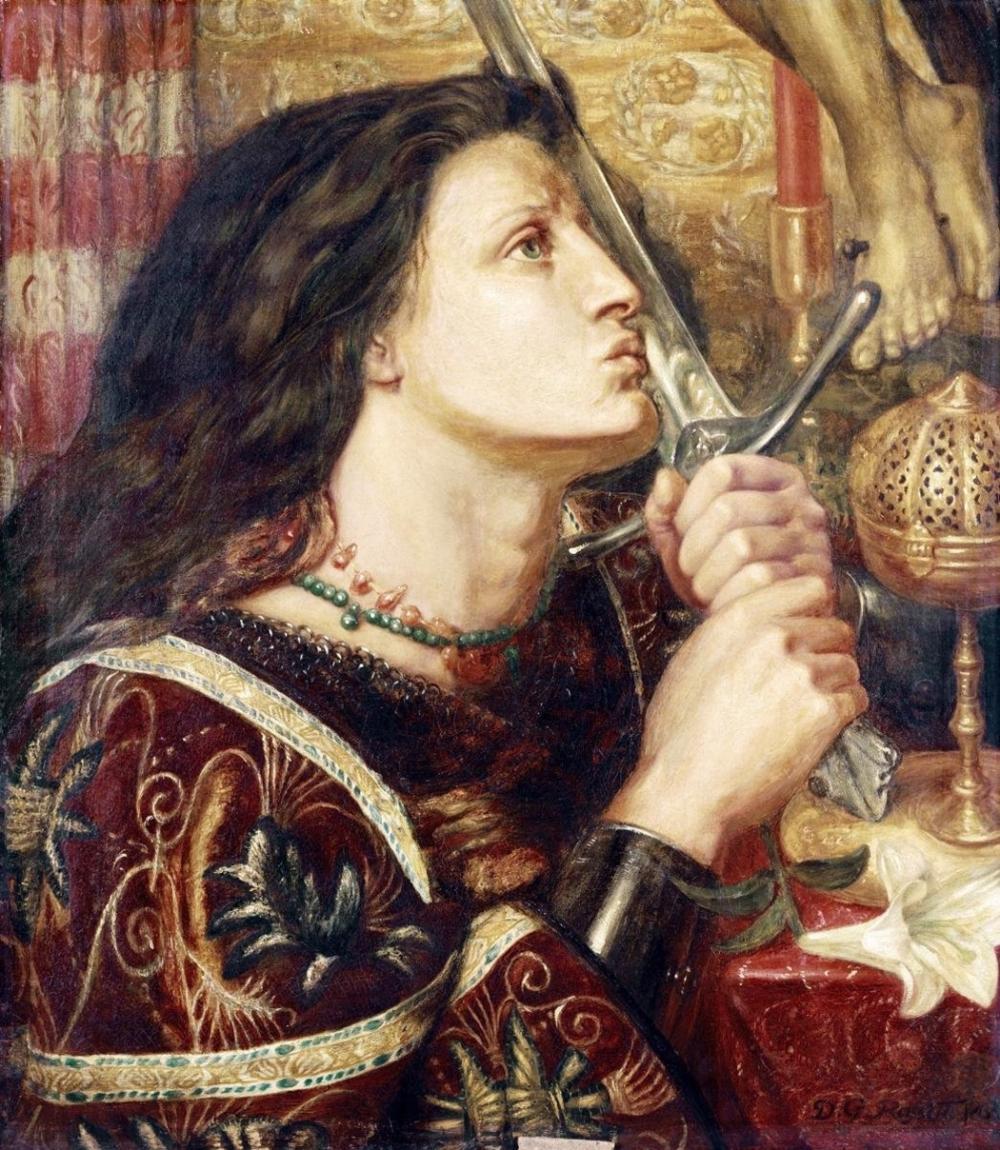 DANTE GABRIEL ROSSETTI - JOAN OF ARC KISSING THE SWORD OF DELIVERANCE