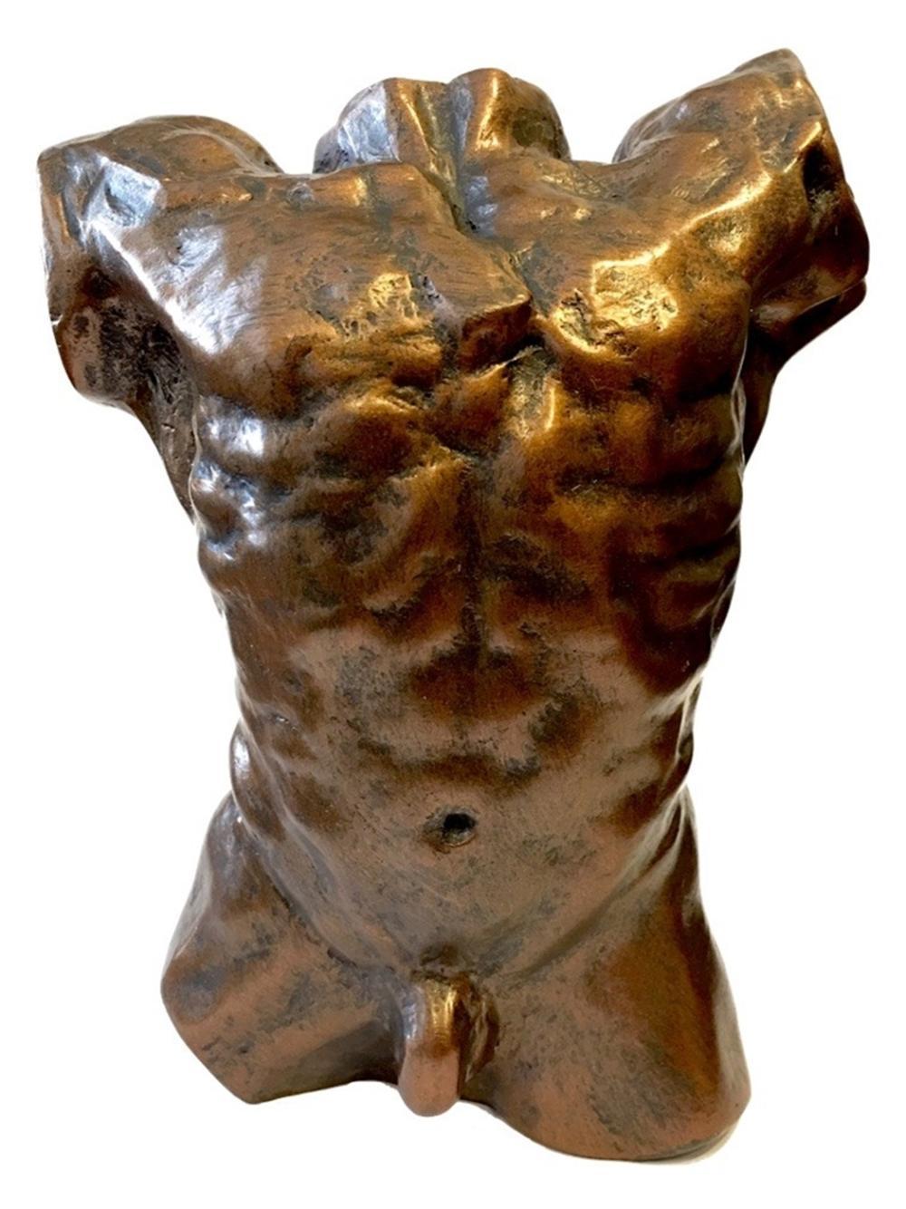 Rodin Male Nude Torso Collectible Statue 6H
