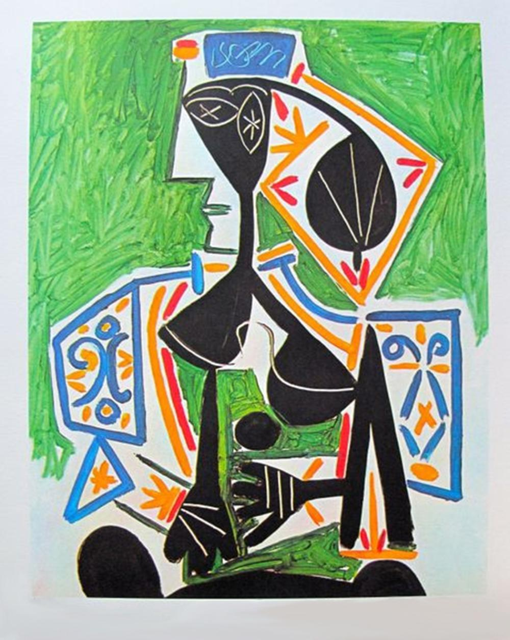 Pablo  Picasso Woman In Green
