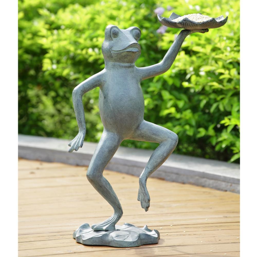 Dancing Frog With Lilypad Birdfeeder