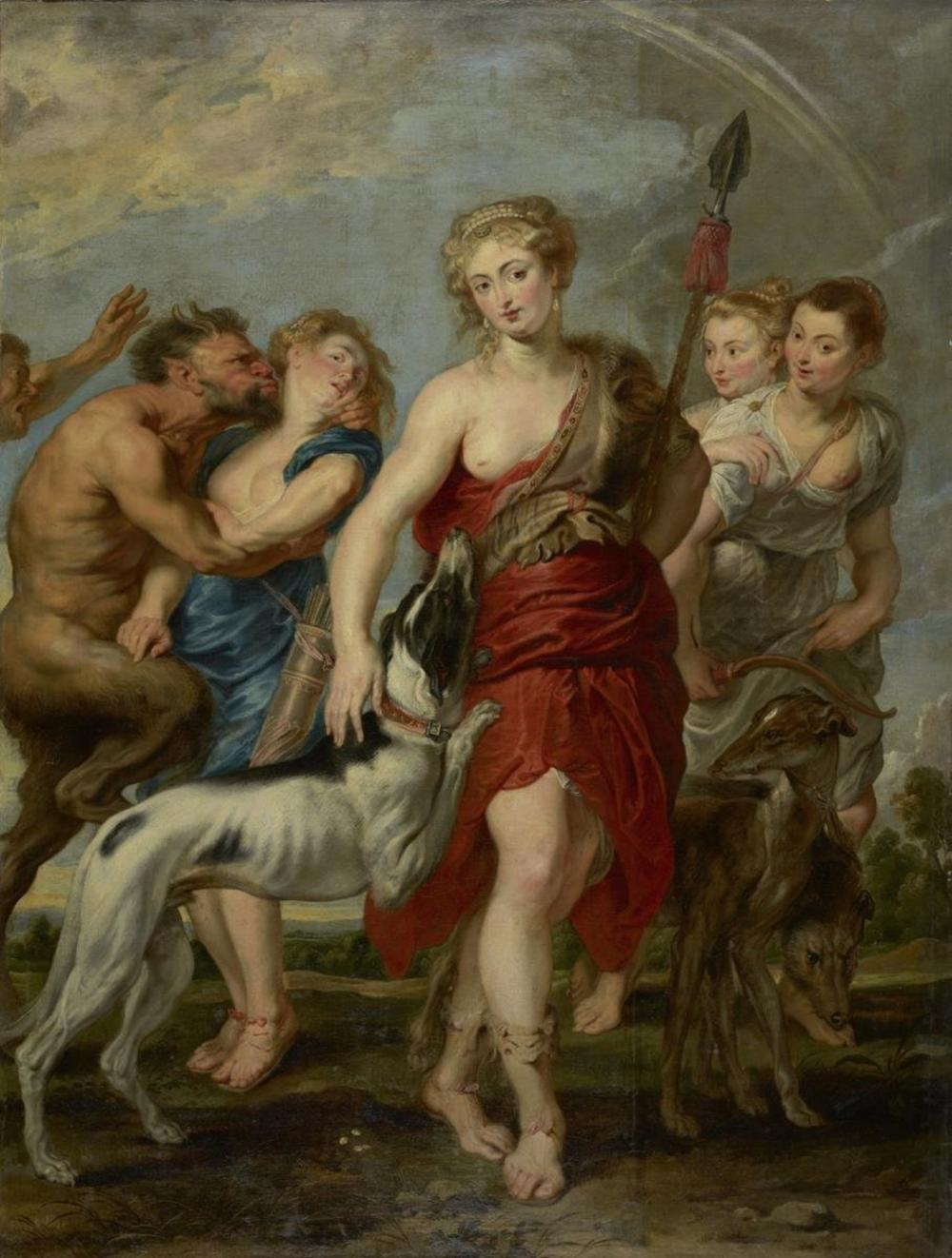 WORKSHOP OF PETER PAUL RUBENS - DIANA AND HER NYMPHS ON THE HUNT