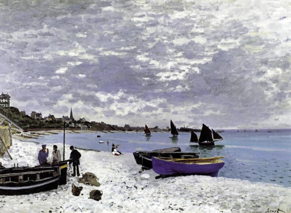 CLAUDE MONET - BEACH AT SAINTE ADRESSE 1867