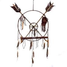 Medicine Wheel Peace Pipe Beaded Buckskin Decor