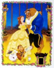 Walt Disney Disney Beauty And The Beast  With Film Cels