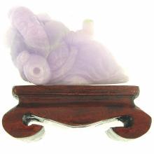 Untreated Lavender Jadeite Jade Statuary