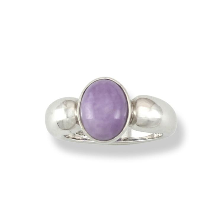Untreated Lavender Jadeite Jade Ring