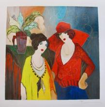 Itzchak Tarkay Just Us Hand Signed Limited Edition Serigraph