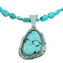 Turquoise Sterling Silver Native American Bead Necklace Set