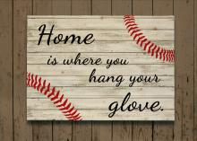 Baseball Pallet Sign - Home Is Where You Hang Your Glove