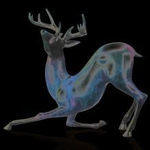 Contemporary Deer Sculpture