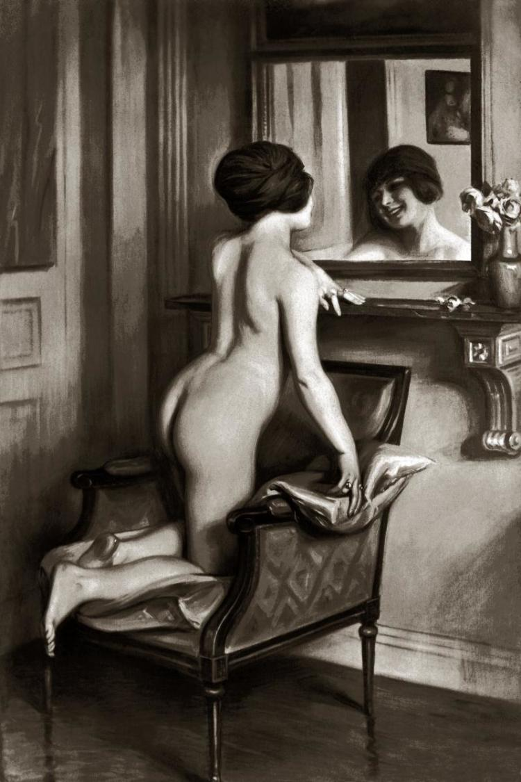 VINTAGE NUDES - THE SMILE IN THE MIRROR