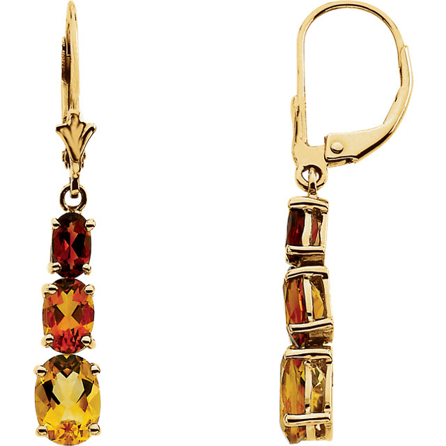 Multi-Gemstone Graduated Earrings