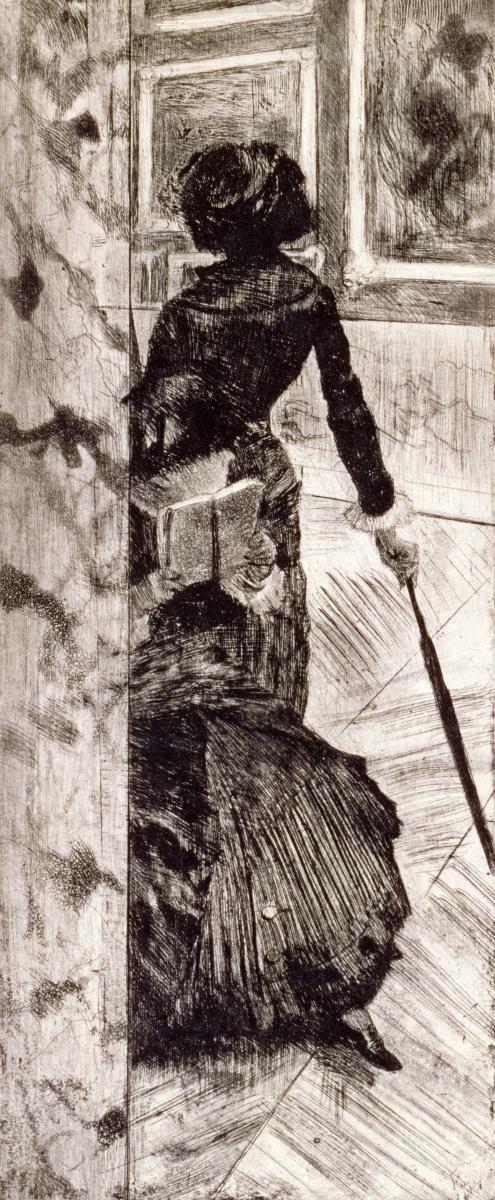EDGAR DEGAS - MARY CASSATT AT THE LOUVRE