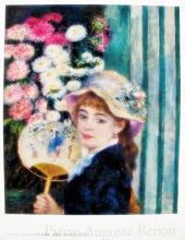 Pierre Auguste Renoir A Girl With A Fan