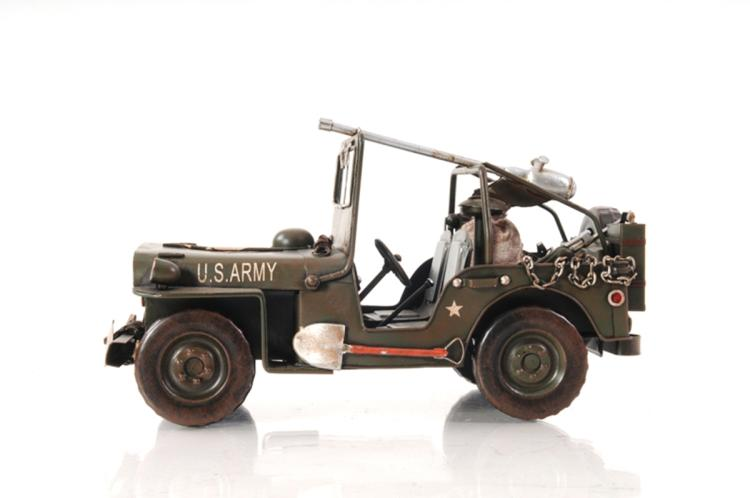 Green 1940 Willys Overland Jeep 1:12