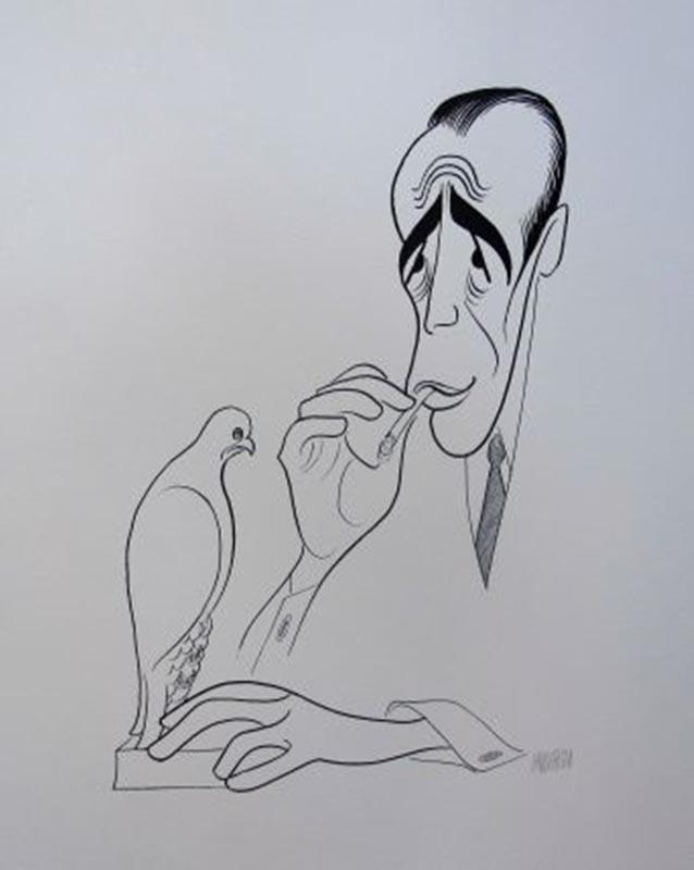 Al Hirschfeld The Maltese Falcon Hand Signed Limited Edition Lithograph Humphrey Bogart