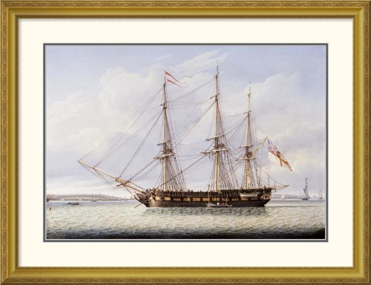 Robert Salmon - Sloop on The Mersey