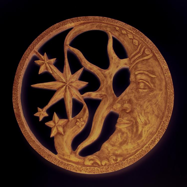 Moon and Star Wall Plaque