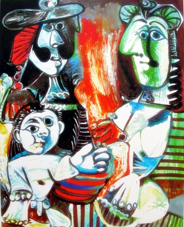 Pablo Picasso #108 Small Child With Two Women