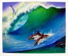 Charles Lynn Chick Bragg   Swimming Dolphins