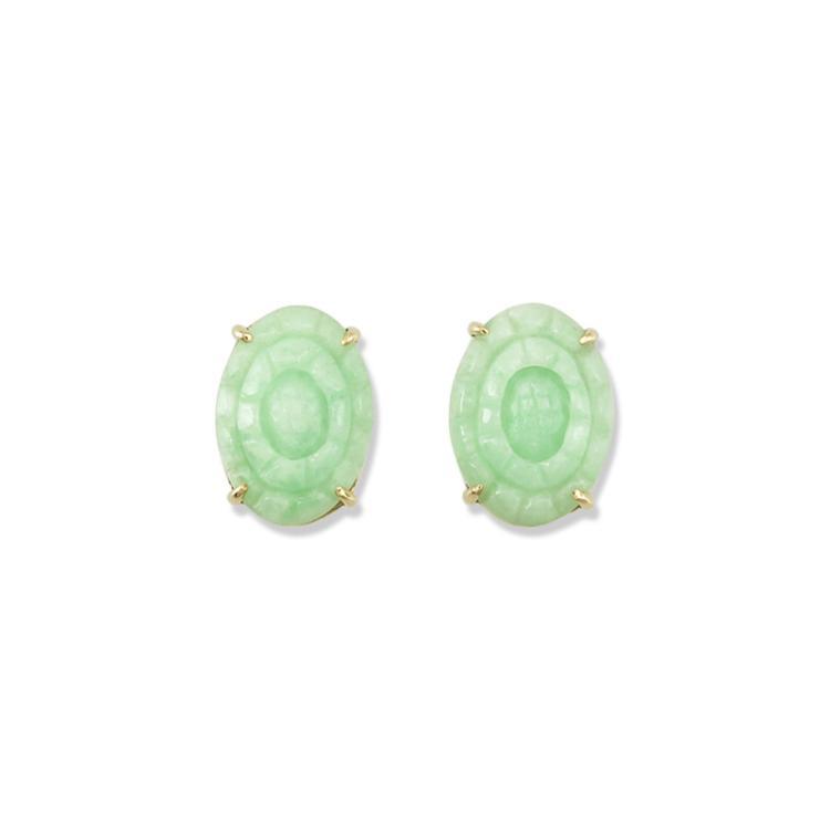 Untreated Natural Green Jade Earrings