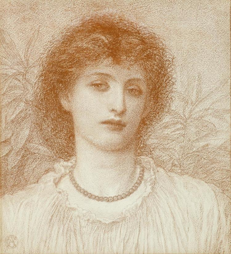 ALICE MAY CHAMBERS - PORTRAIT OF A LADY, BUST LENGTH