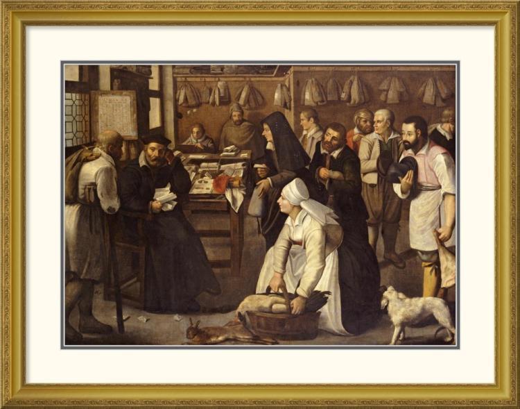 Pieter Bruegel the Elder - A Tax Office