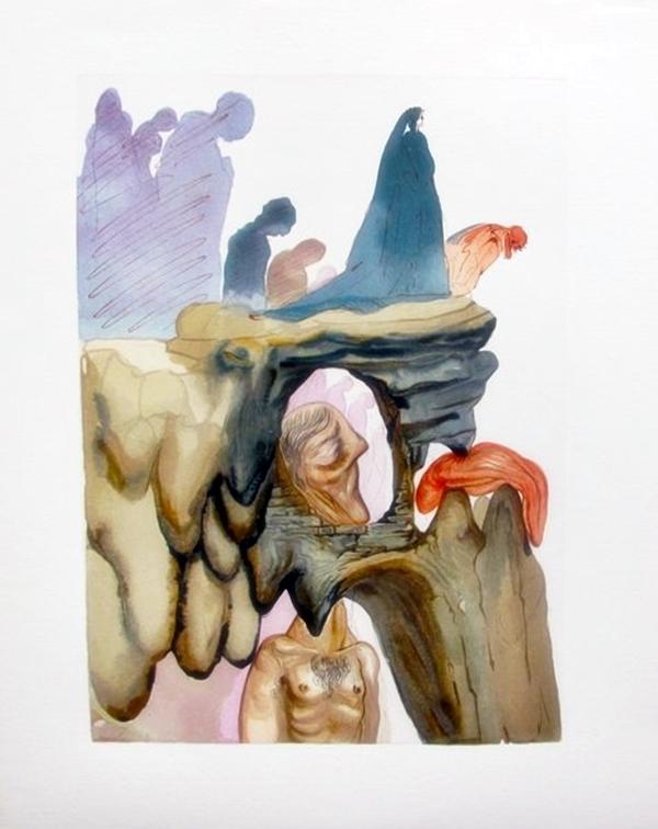 Salvador Dali 1960 Divine Comedy Inferno #22