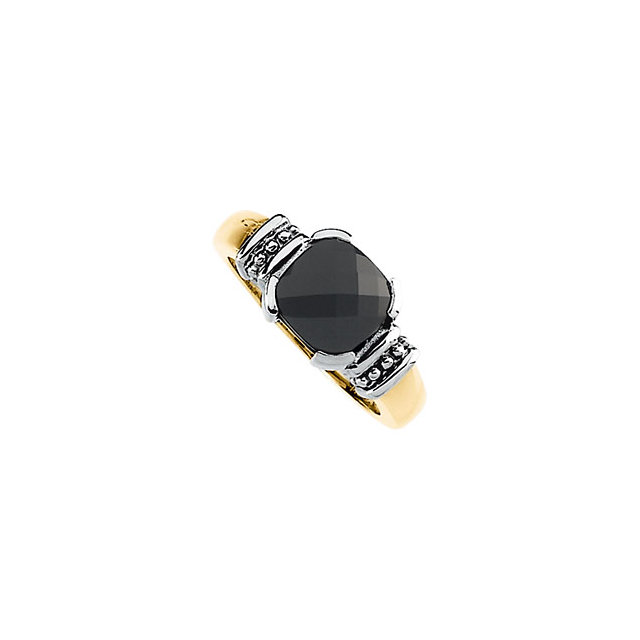 Onyx Granulated Design Ring