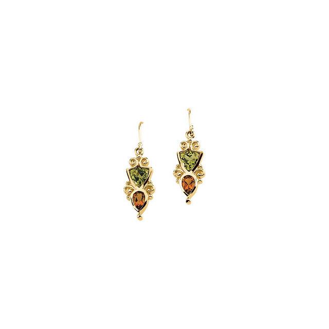 Peridot & Citrine Earrings