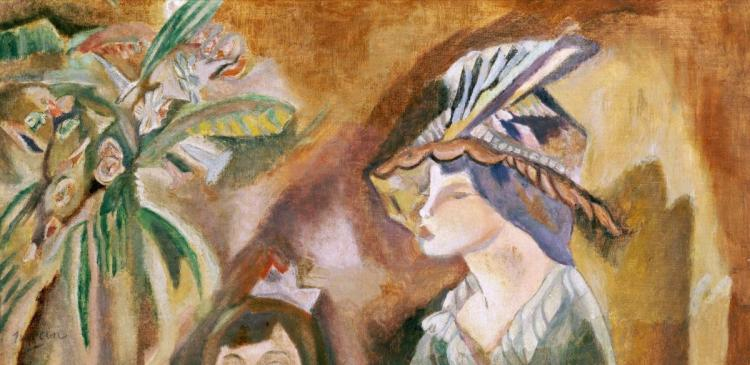 JULES PASCIN - WOMAN WITH A HAT
