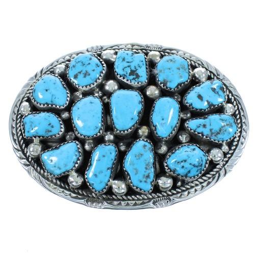 Genuine Sterling Silver Turquoise Navajo Belt Buckle