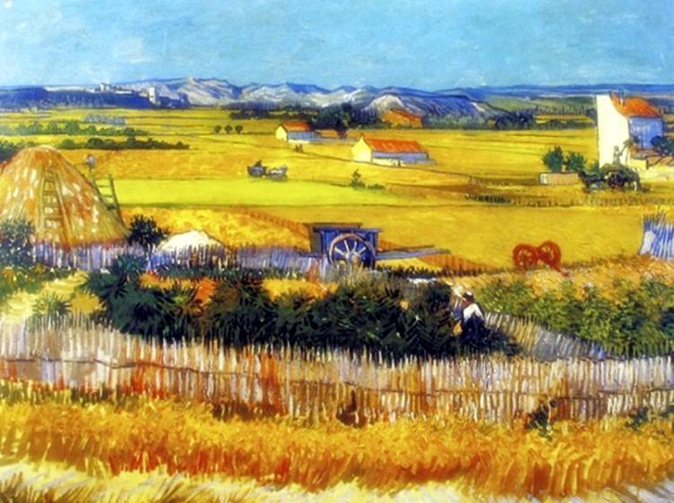 Vincent Van Gogh Harvest Landscape In Arles