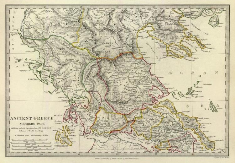 SOCIETY FOR THE DIFFUSION OF USEFUL KNOWLEDGE - ANCIENT GREECE, NORTHERN, 1829
