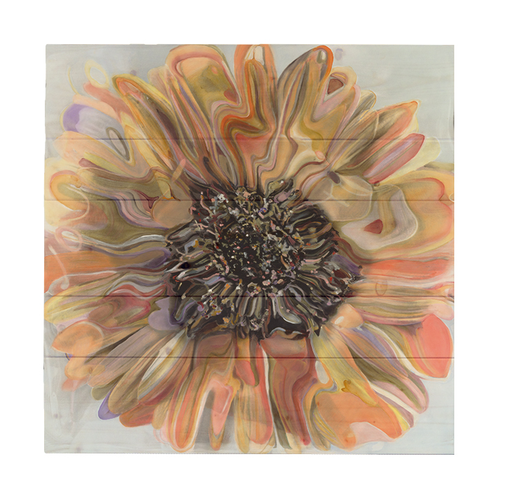 Daisy By Polly Norman Painting Print On Decorative Wood Wall Décor