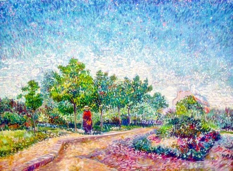 Vincent Van Gogh Van Gogh Corner In Voyer D'argenson Park At Asnieres By Marc Kniebihler