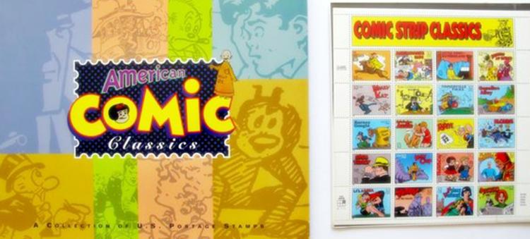 Deluxe Art Books American Comic Classics Book With 20 Postage Stamps United States Postal Service