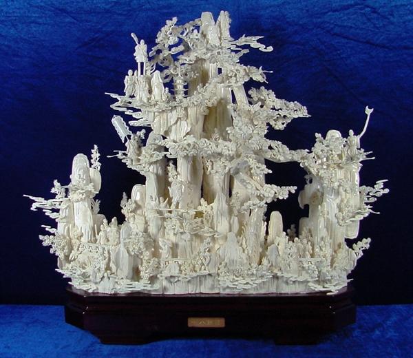 Bone Carving - 18 Immortals Mountain