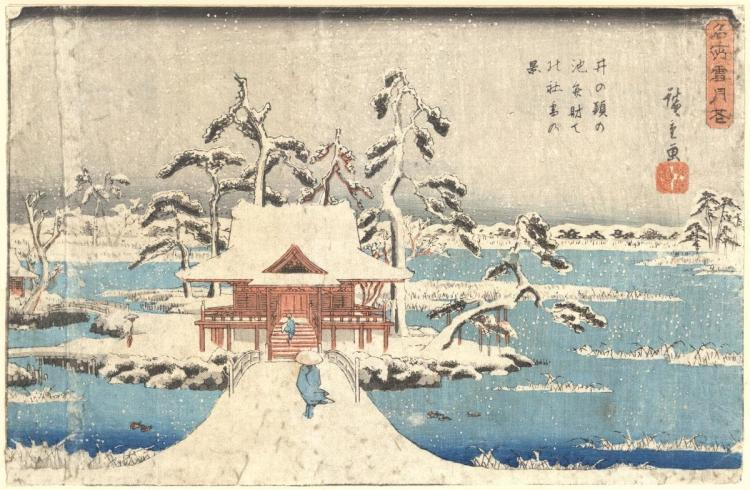 UNKNOWN - THE TEMPLE IN THE SNOW, 1850