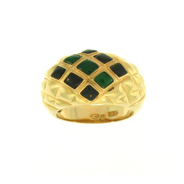 Untreated Green Black Mix Jadeite Jade Ring