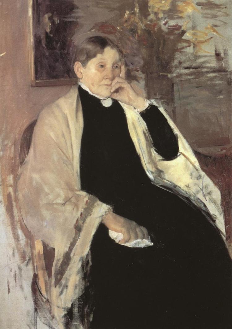 MARY CASSATT - THE ARTISTS MOTHER KATHERINE KELSO JOHNSTON 1889