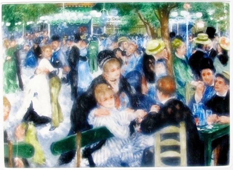 Pierre Auguste Renoir Le Moulin De La Galette Ambroise Vollard Estate Etching