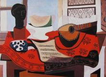 Pablo Picasso Still Life With Mandolin Estate Signed Limited Edition Giclee