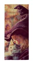 The Good Witch -  Halloween By Wesley Dallas Merrit Painting Print On Decorative Wood Wall Décor