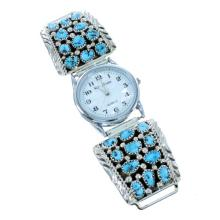 Navajo Indian Turquoise Sterling Silver Watch S