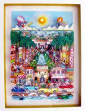 Charles Fazzino  Perfectly Palm Beach  Florida