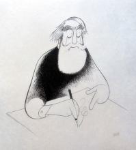 Al Hirschfeld  Self Portrait At 99